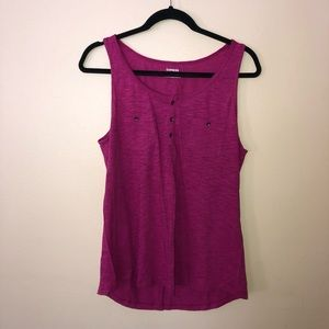 Loose Tank Top Magenta By Express Size Large